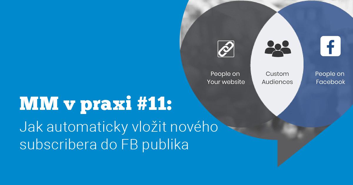Ukázka Messenger marketingu v praxi #11: Jak vložit subscribera do publika Facebook reklamy
